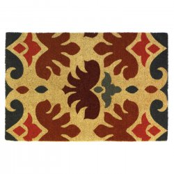Charles Rooster Design Coir Doormat Slip-Resistant Backing 24 x 36 Long