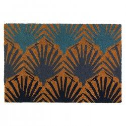Bondi Seashell Design Coir Doormat Slip-Resistant Backing 24 x 36 Long