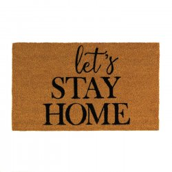 Alice Let's Stay Home Coir Doormat Slip-Resistant Backing 18 x 30 Long