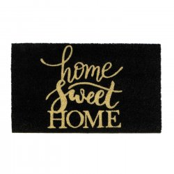Cara Home Sweet Home Coir Doormat Slip-Resistant Backing 18 x 30 Long