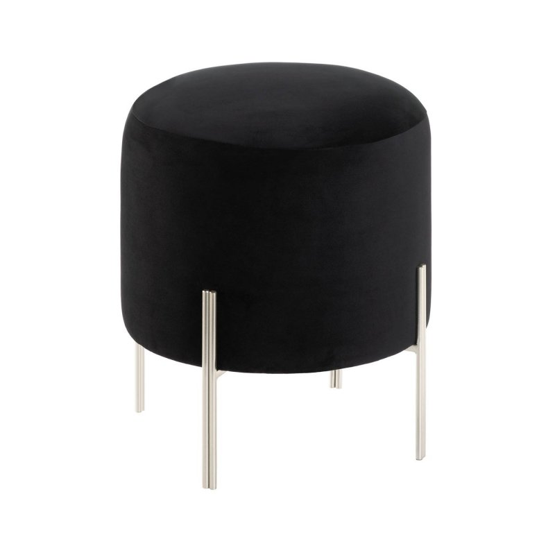 This contemporary velvet covered stool demands attention in any space. Use at your makeup vanity, home office desk, or as an extra sitting area in the living room.