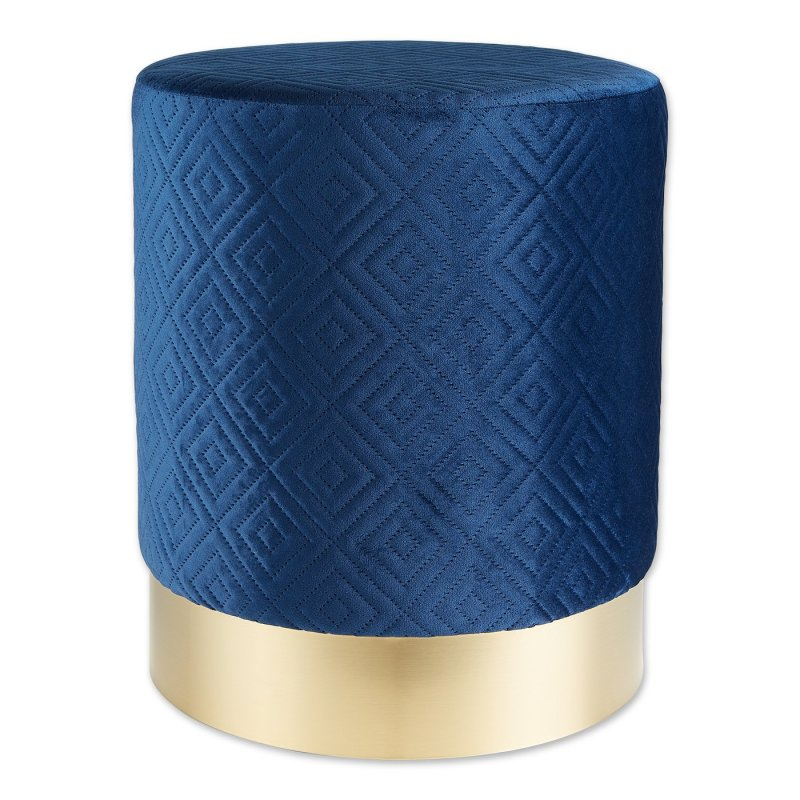 Blue Stool with Gold Trim