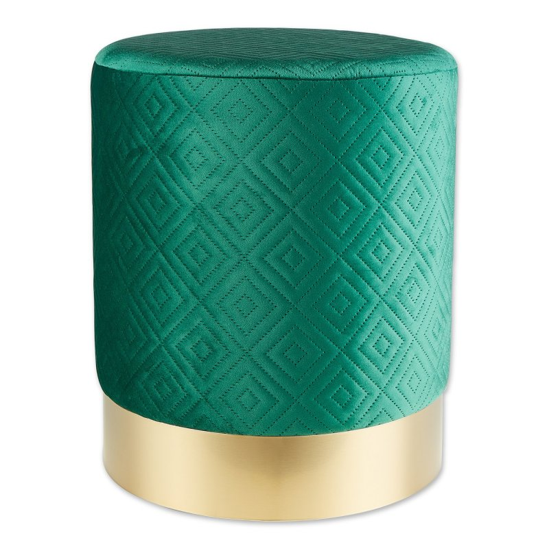 Green Stool with Gold Trim