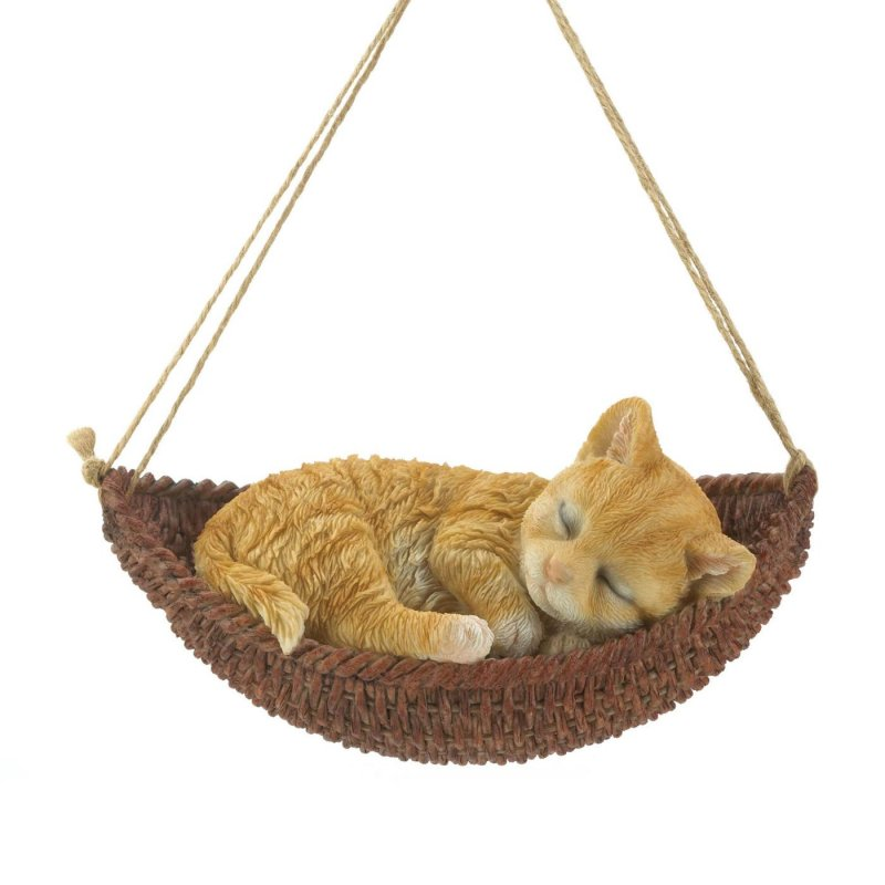 A cute décor piece to brighten up your day, this hanging kitty figurine is a must-have for any cat lover. Suitable for indoor and outdoor display.