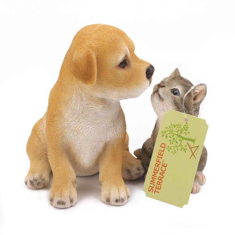 Image 1 of Best Buddies Puppy & Kitten Garden Decor Figurine