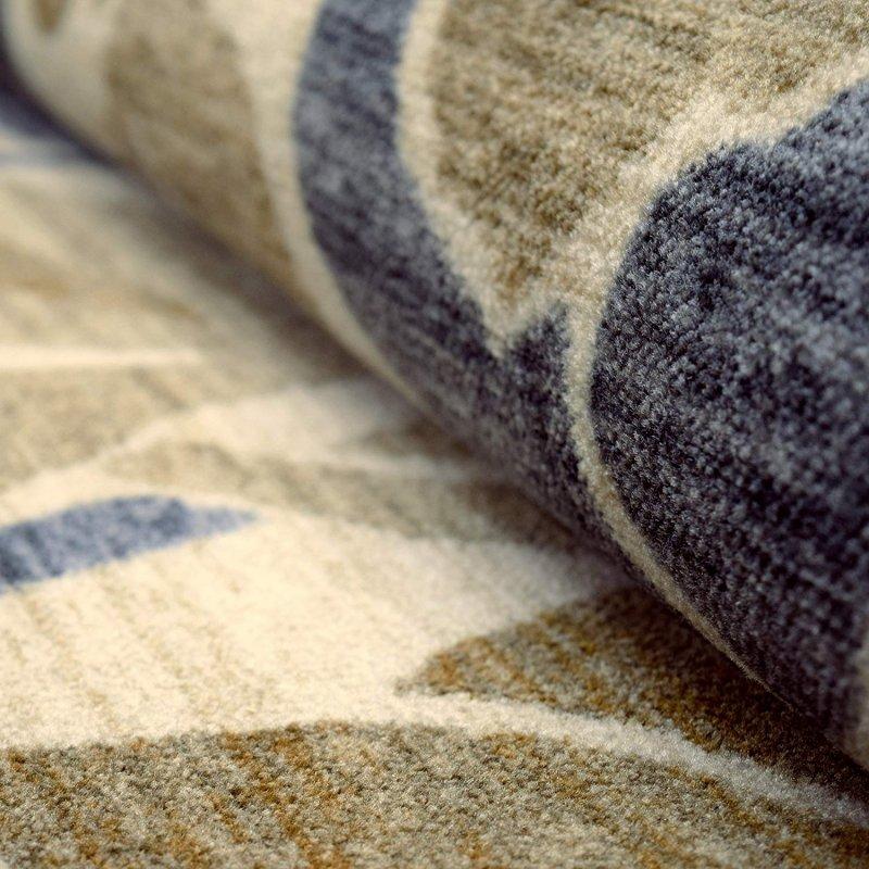 Image 3 of Superior Roselyn Area Rug Multi-Color Floral Design No Slip Backing