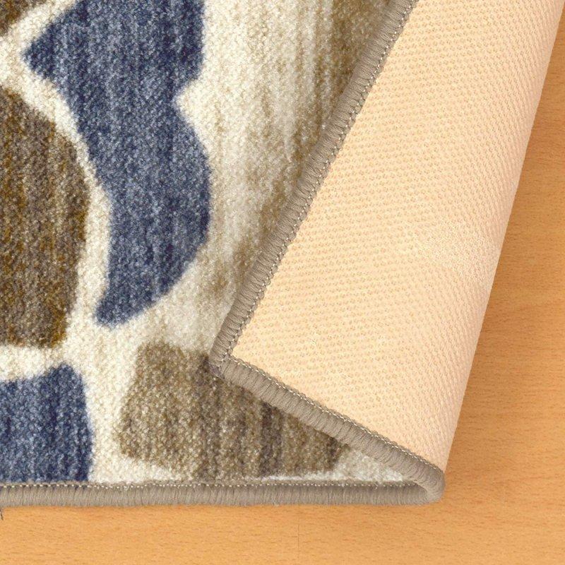 Image 4 of Superior Roselyn Area Rug Multi-Color Floral Design No Slip Backing