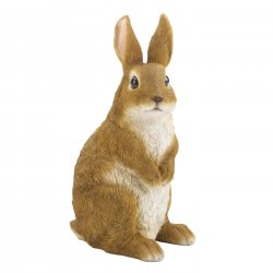 Curiously Cute Sitting Bunny Garden Decor Figurine