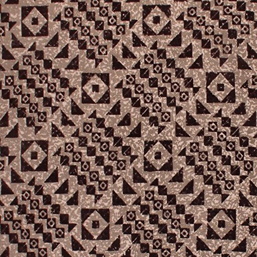 Image 3 of Superior Acadia Designer Area Rug Brown & Black Geometric Design 100% Cotton