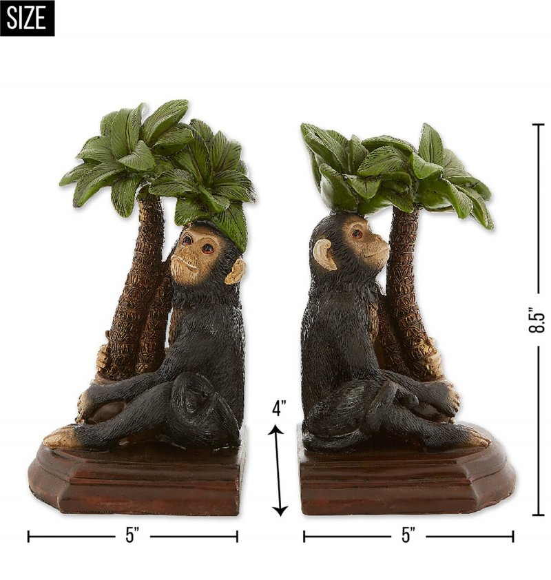 Image 5 of Monkey under Palm Tree Bookends