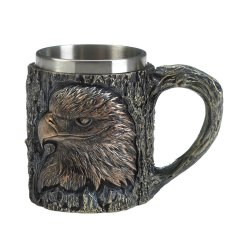 Patriot Eagle Mug Textured Tree Background w/ Stainless Steel Inner Liner