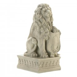 '.Ivory Lion Statue.'