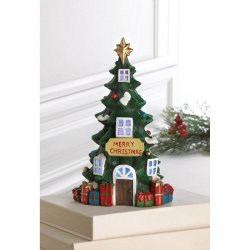 LED Lighted Christmas Tree House with Presents