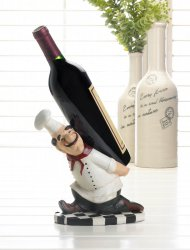 Italian Chef Wine Bottle Holder Carrying Wine Bottle on his Back
