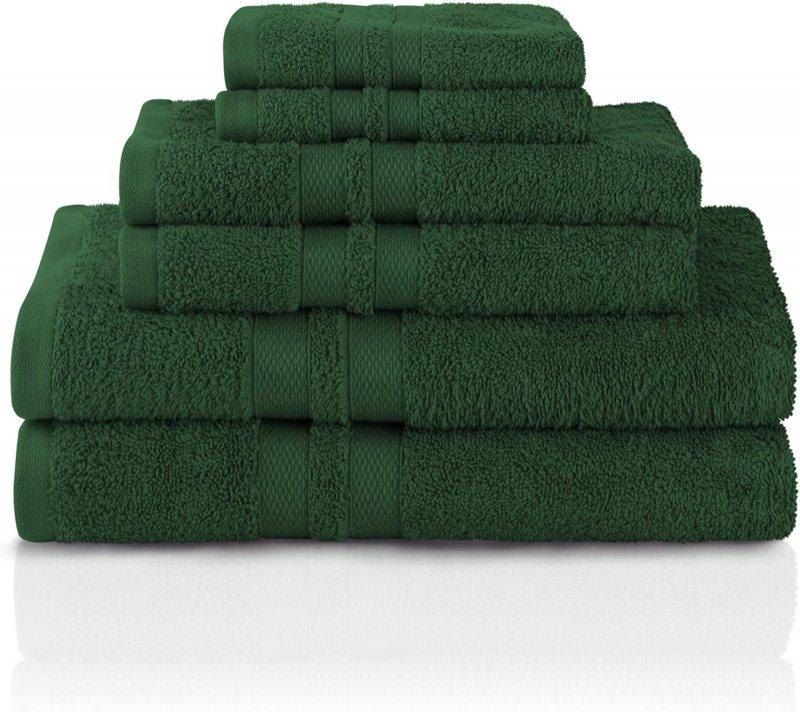 Image 9 of 100% Pure Cotton Honeycomb Double Border 2 Bath Towels, 2  Hands, 2 Face Towels