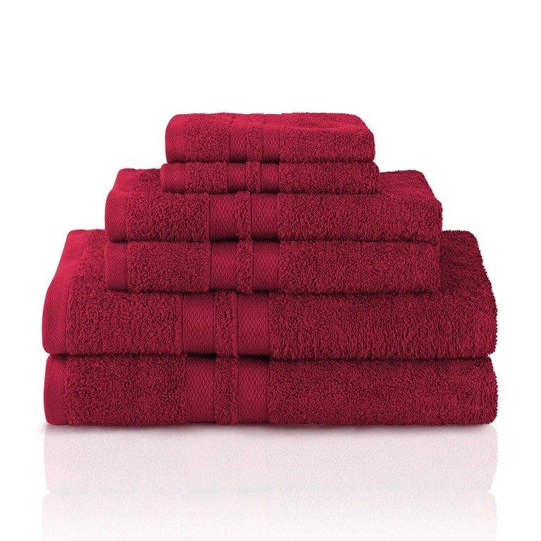 Image 13 of 100% Pure Cotton Honeycomb Double Border 2 Bath Towels, 2  Hands, 2 Face Towels
