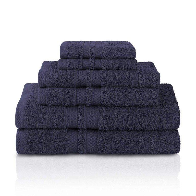Image 15 of 100% Pure Cotton Honeycomb Double Border 2 Bath Towels, 2  Hands, 2 Face Towels