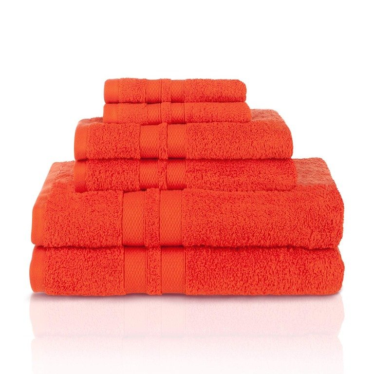 Image 17 of 100% Pure Cotton Honeycomb Double Border 2 Bath Towels, 2  Hands, 2 Face Towels