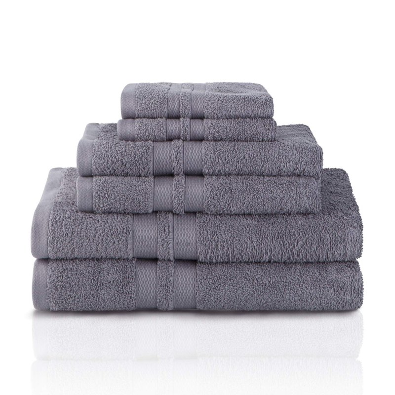 Image 3 of 100% Pure Cotton Honeycomb Double Border 2 Bath Towels, 2  Hands, 2 Face Towels