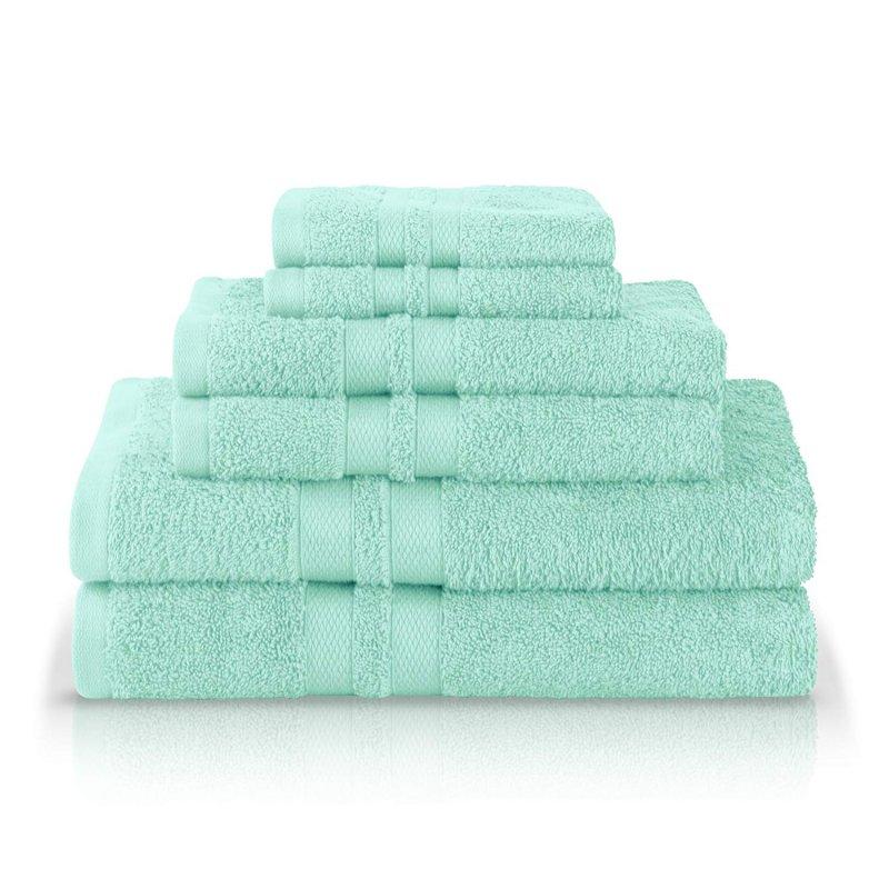 Image 5 of 100% Pure Cotton Honeycomb Double Border 2 Bath Towels, 2  Hands, 2 Face Towels