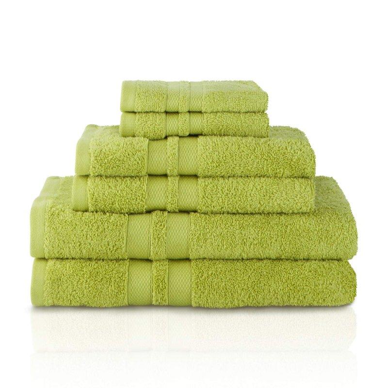 Image 7 of 100% Pure Cotton Honeycomb Double Border 2 Bath Towels, 2  Hands, 2 Face Towels