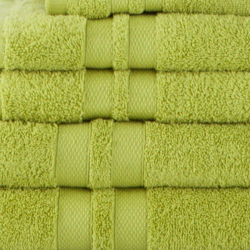 Celery Double Border 6-Piece Towel Set