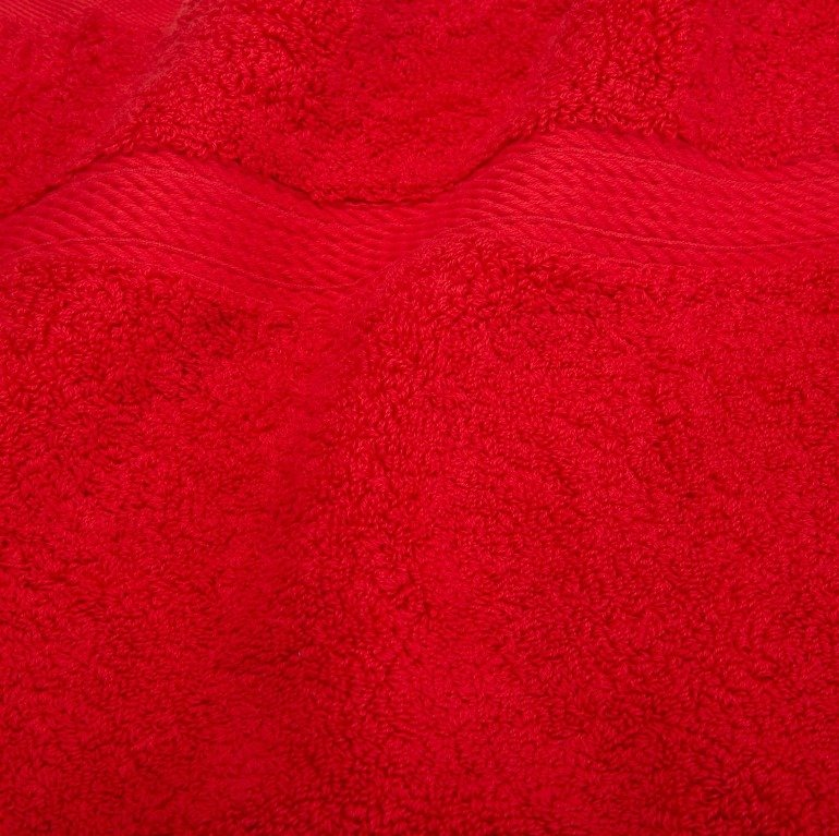 Red 900 GSM Egyptian Cotton 2 Piece Towel Set