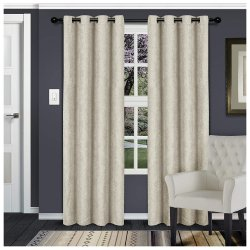 Waverly Ivory Room Darkening Noise Reducing Thermal Blackout Curtain Set