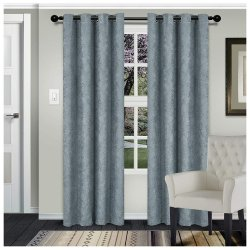 Waverly Teal Room Darkening Noise Reducing Thermal Blackout Curtain Set