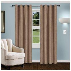 Linen Brown Room Darkening Noise Reducing Thermal Blackout Curtain Set