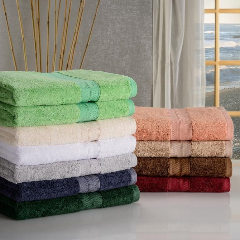 Image 0 of Rayon from Bamboo 650 GSM 2-Piece Bath Towel Set