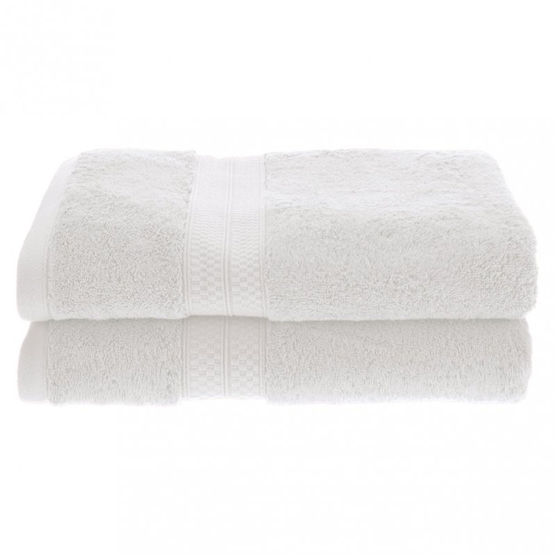 White 650 GSM Bamboo from Rayon Bath Towels