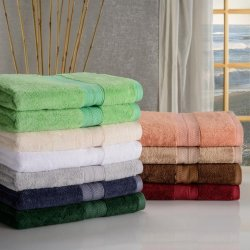 Rayon from Bamboo 650 GSM 2-Piece Bath Towel Set