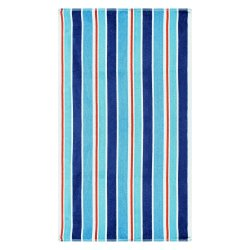 Ocean Blue Striped Over-Sized Beach Towels 100% Cotton 450 GSM 34 x 64