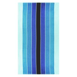 Pacific Blue Striped Over-Sized Beach Towels 100% Cotton 450 GSM 34 x 64