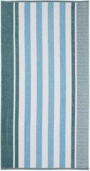 Checkered Texture Aero Blue Striped 100% Cotton Over-sized Beach Towel 34 x 64