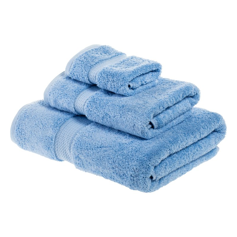 Image 13 of 3-pc Superior 900 GSM Egyptian Cotton Bath, Hand and Face Towel Set