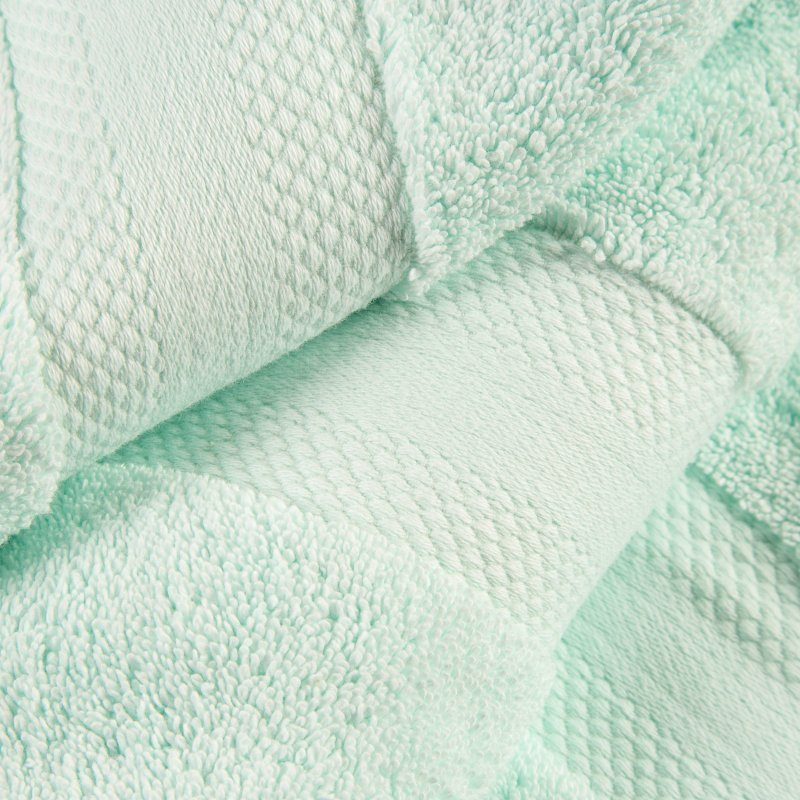 Dusty Aqua Turkish Long Staple Cotton 6-Piece Towel Set
