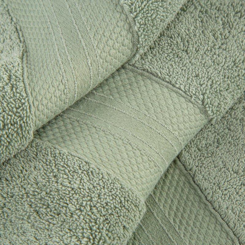 Olive Green Turkish Long Staple Cotton 6-Piece Towel Set
