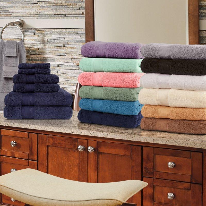 Image 0 of 100% Turkish Long Staple Cotton 800 GSM 2 Bath, 2 Hand, 2 Face Towel Set