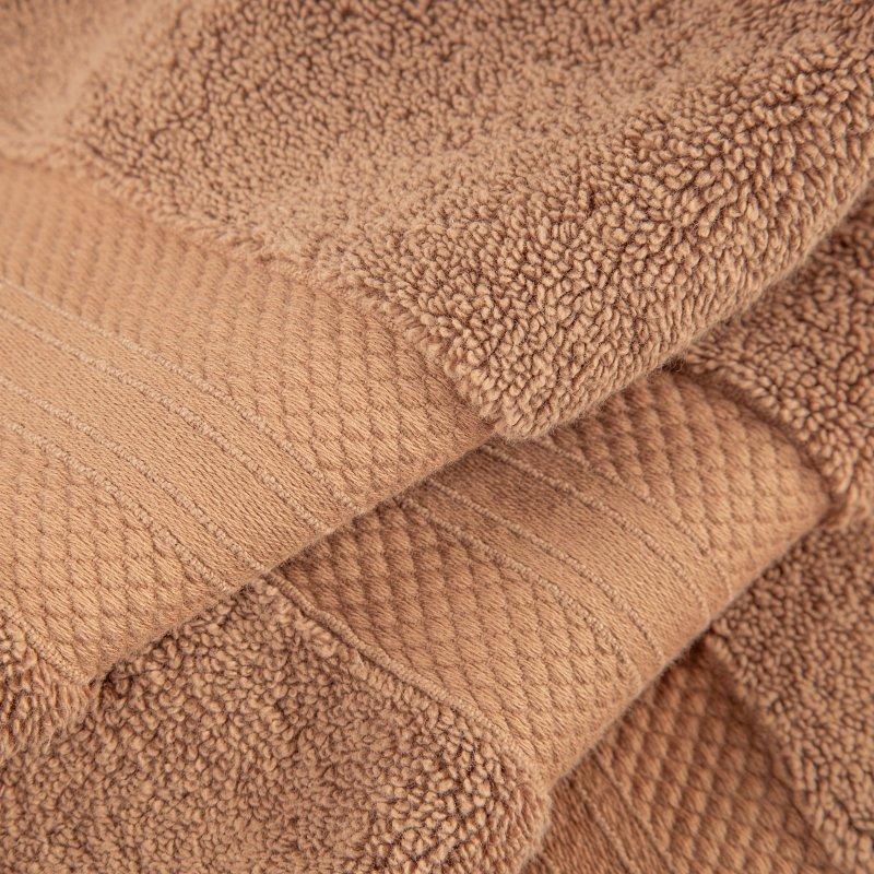 Taupe Turkish Long Staple Cotton 6-Piece Towel Set