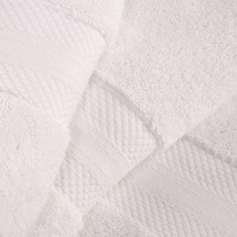 White Turkish Long Staple Cotton 6-Piece Towel Set