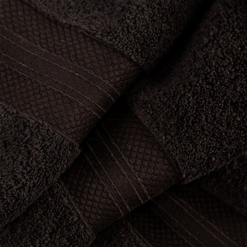 Black Turkish Long Staple Cotton 6-Piece Towel Set
