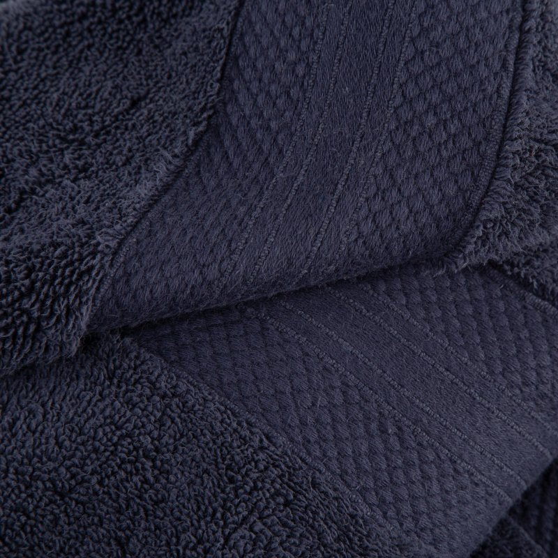 Crown Blue Turkish Long Staple Cotton 6-Piece Towel Set
