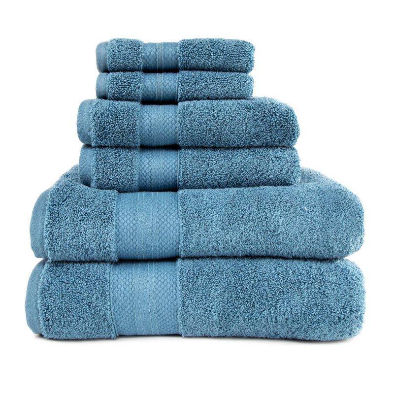 Image 7 of 100% Turkish Long Staple Cotton 800 GSM 2 Bath, 2 Hand, 2 Face Towel Set