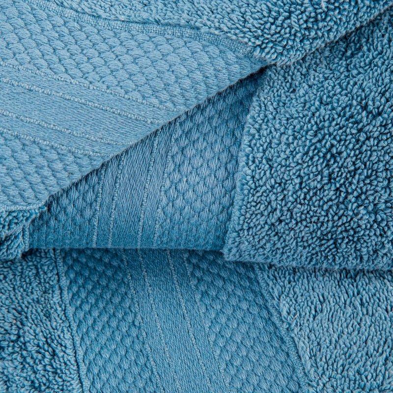 Denim Blue Turkish Long Staple Cotton 6-Piece Towel Set
