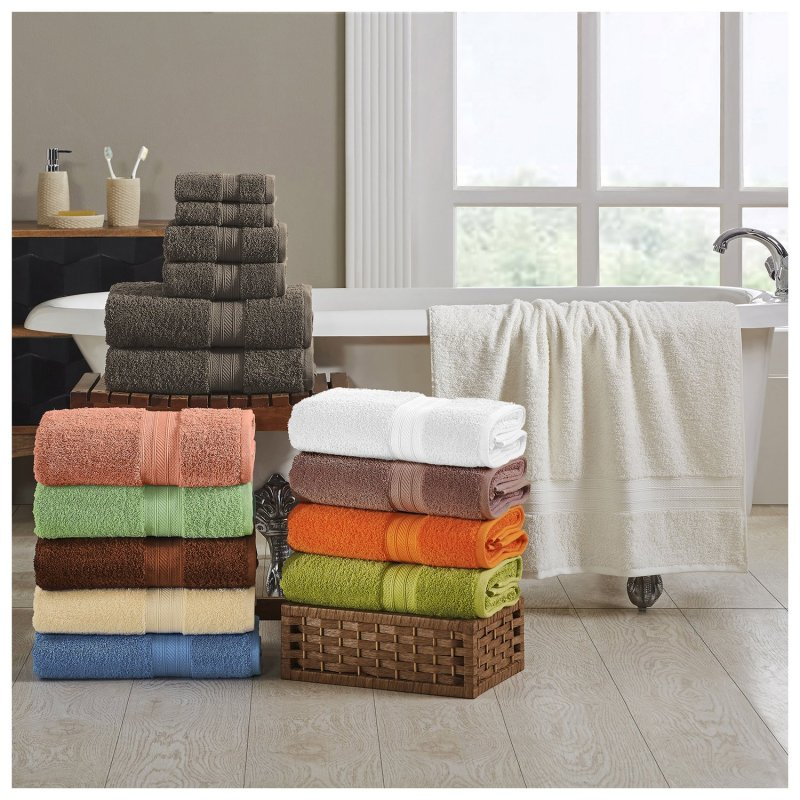 Image 0 of Plush Long Staple Cotton Towel Set 700 GSM 2 Bath Towel, 2 Hand, 2 Washcloths
