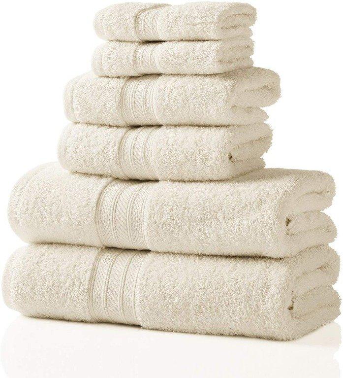 Image 1 of Plush Long Staple Cotton Towel Set 700 GSM 2 Bath Towel, 2 Hand, 2 Washcloths