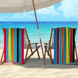 Superior Rainbow Striped Beach Towels Egyptian Cotton 34x 64 Set of 2