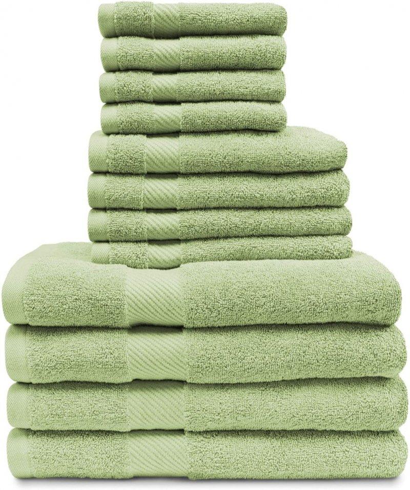 Image 13 of 12-pc. Superior Egyptian Cotton Towel Set 4 Bath, 4 Hand, 4 Face Towel Set